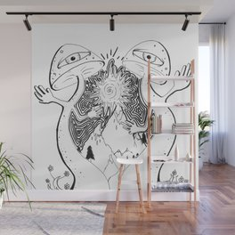 Mushroom Mountain Wall Mural