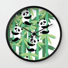 Panda's society Wall Clock