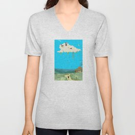 DREAMING IN FOOTHILLS Unisex V-Neck