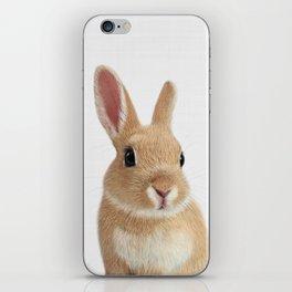 Bunny rabbit print iPhone Skin
