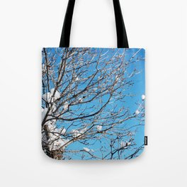Winter Time Tree Tote Bag