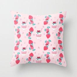 Strawberry poison milk 1 Throw Pillow