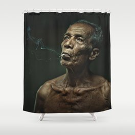 Old man 19 Shower Curtain