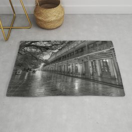New Orleans, French Quarter, Jackson Square black and white photograph / black and white photography Rug