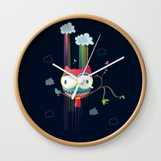 Colorfowl Wall Clock