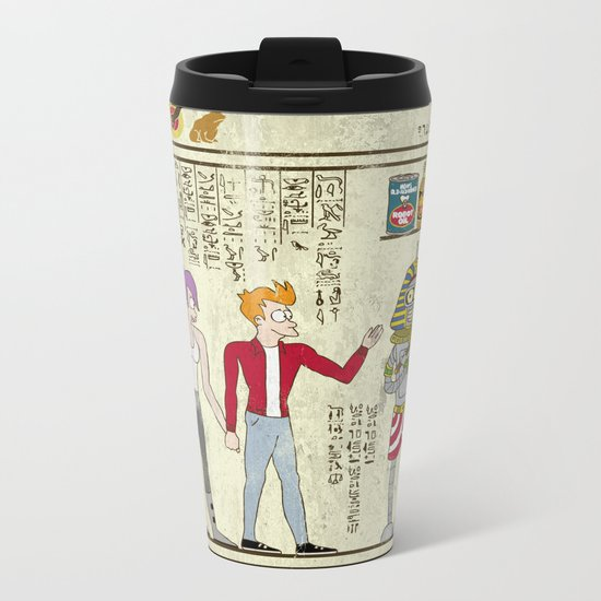 Hero-glyphics: Planet Express  Metal Travel Mug