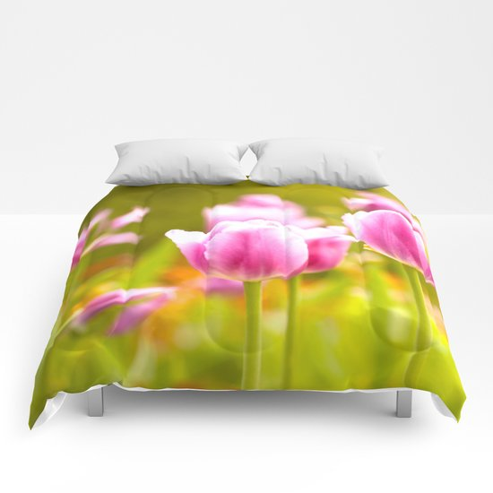 Joy Of Spring Flowers Comforters