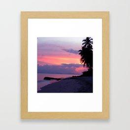 Island sunset Framed Art Print