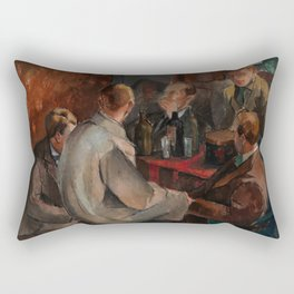 Alvar Cawen - Members of The November Group - 1921, man, seating, art Rectangular Pillow