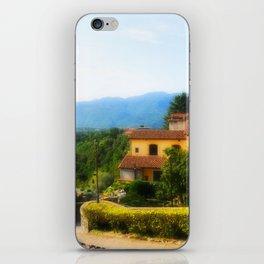Sunny day in  Barga iPhone Skin