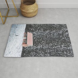 Snowy Cabin-Giant Forest and a Snowy Landscape Rug