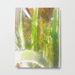 Cactus Garden Serene Metal Print