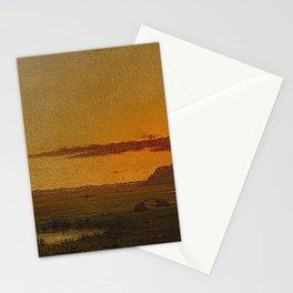 Martin Johnson Heade - Sunset, Newburyport Meadows Stationery Cards