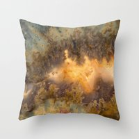 30 rock Throw Pillows featuring Idaho Gem Stone 30 by Leland D Howard
