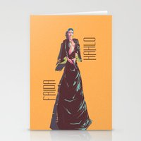 frida kahlo Stationery Cards featuring Frida Kahlo by antoniopiedade