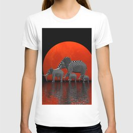 the elephants enjoy sundown -2- T-shirt