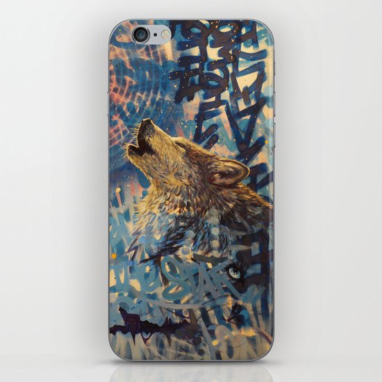THE WOLF HOWLED AT THE STAR FILLED NIGHT iPhone & iPod Skin