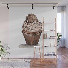 Watercolor Oreo Cupcake Wall Mural