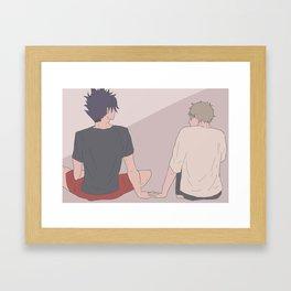 Haikyuu!! - Kurotsuki 6 Framed Art Print