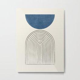 Arch Balance Blue Metal Print