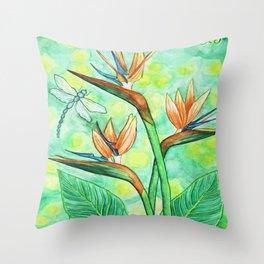 Bird-of-Paradise Throw Pillow