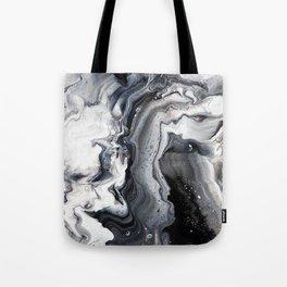 Marble B/W/G Tote Bag