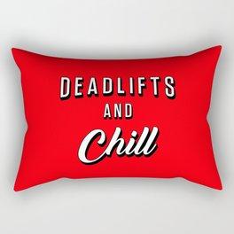 Deadlifts And Chill Rectangular Pillow