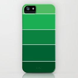 gradation in True Green iPhone Case