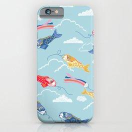 Koi carp kite day Japanese print pattern iPhone Case