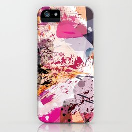 7: a vibrant abstract in jewel tones iPhone Case