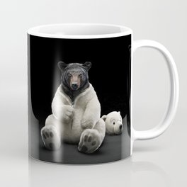 Black bear wearing polar bear costume Coffee Mug