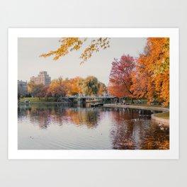 Boston Common in Autumn Art Print