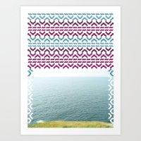 AZTEC 'Beyond The Sea' 1-2 Art Print