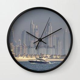 Dubai Yacht And Architecture Wall Clock