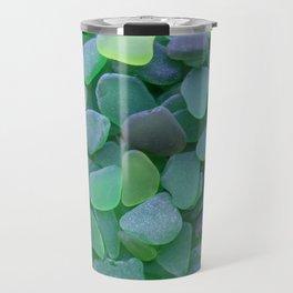 Green Beach Glass Assortment Travel Mug