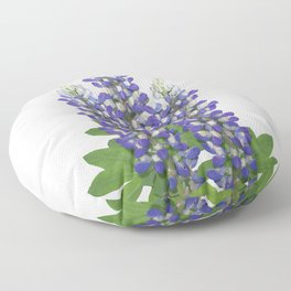 Blue and white lupine flowers Floor Pillow