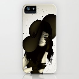 girl in the hat iPhone Case