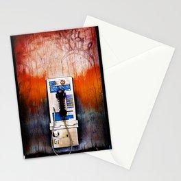 yurk phone orange Stationery Cards