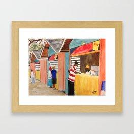 Carnival Stands Framed Art Print
