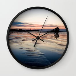 Saint Malo au coucher du soleil / Sunset in Saint Malo Wall Clock