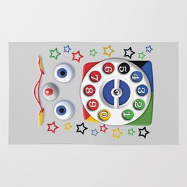 Retro Vintage smiley kids Toys Dial Phone iPhone 4 4s 5 5s 5c, ipod, ipad, pillow case and tshirt Rug