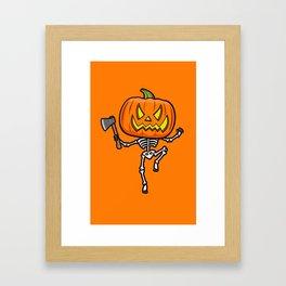 Pumpketon is coming for you Framed Art Print