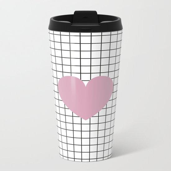 Heart #1 Metal Travel Mug