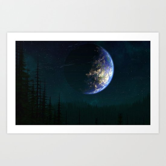 Out of this world #forest Art Print