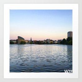 The Lakes Evening Art Print