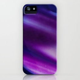 Purple Blue Cool Tone Geode Rock Stone Crystal Fine Art Print iPhone Case