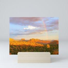 A Rainbow in Sedona Mini Art Print