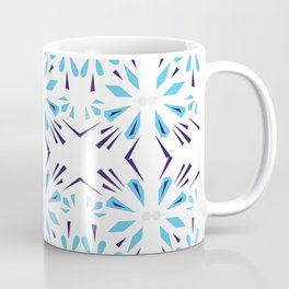 Luxury design ornaments, blue on white Coffee Mug