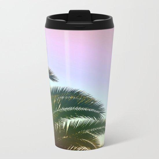 Palm Leaves  - Tropical Sky - Chilling Time Metal Travel Mug