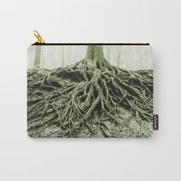 """""""Photography of Nature"""" Roots washed out of Soil at Borzsonyliget, Hungary Carry-All Pouch"""